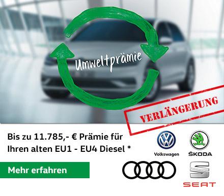 VW, Audi Skoda und Seat Umweltprämien