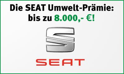 Die Umweltprämie von SEAT - bis zu 8.000,- € Preisvorteil beim Kauf eines SEAT Neuwagens oder Vorführwagen