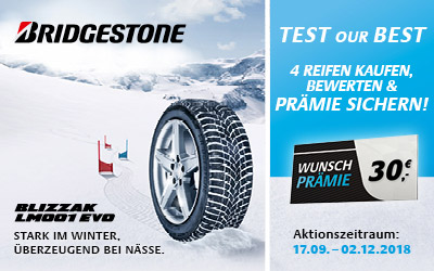 Bridgestone Winterreifen Aktion